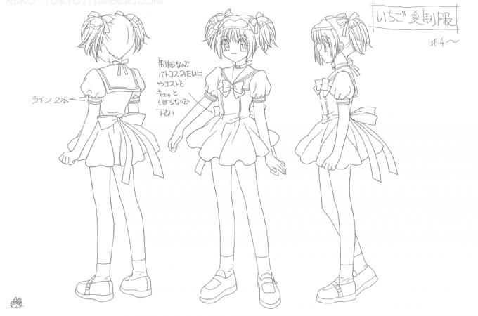 Ichigo's School Uniform from Tokyo Mew Mew + FREE PATTERN!